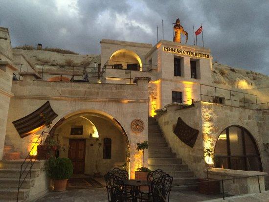 Cavusin, تركيا: Fachada del hotel, espectacular!!