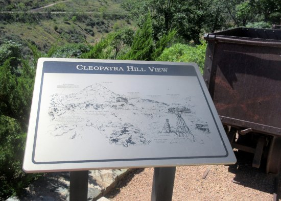 Cleopatra Hill Information Sign, Jerome, Az