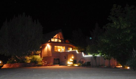 The Suites at Sedona B&B: Front Entry at Night (with orb)