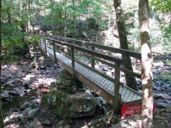 Morrilton, AR: bridge on trail