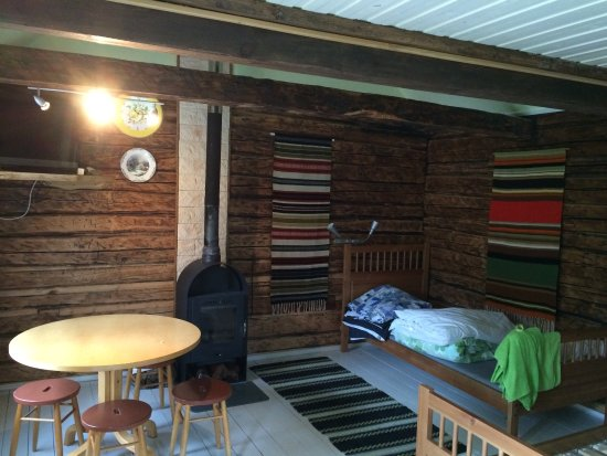 Saaremaa, Estonia: These are from one of the rental cabins great rustic style