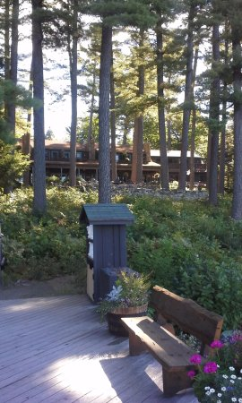 South Casco, ME: View of Lodge from the Main Dock