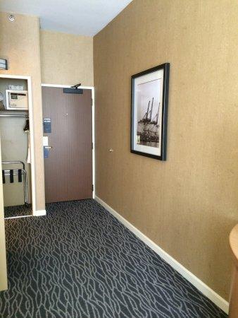 Warwick Seattle: closet and exit door