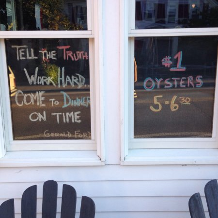 "Harwich Port, MA: I find ironic that next to their falsely advertised hours is a sign that says ""Tell the Truth."""