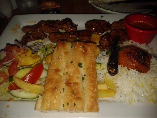 shiraz turkish bbq restaurant platos abundantes