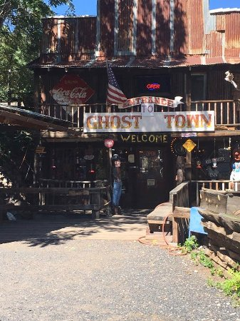 Jerome, AZ: You enter the ghost town through this gift shop.