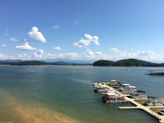 Dandridge, TN: View of the marina from the Inn