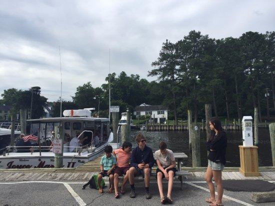 Onancock, VA: Waiting for the ferry!