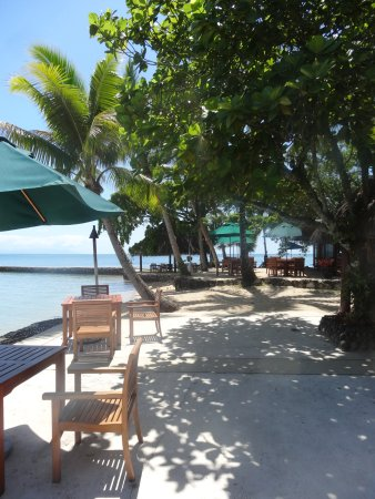 Toberua Island, Fiji: World's most beautiful dining room on the sand.