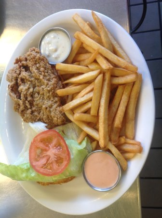 Midvale, UT: Country Fried Steak Sandwich with fries, yummy!