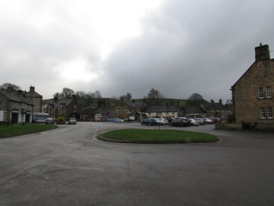 Hartington village center facing the Devonshire Arms and the Post Office.