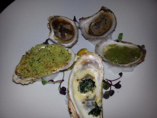 The Little Inn: Oysters 5 ways.