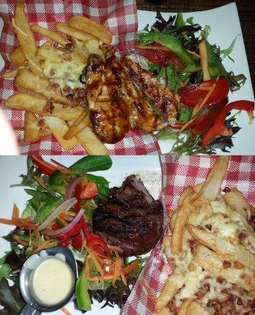 Shellharbour, ออสเตรเลีย: Smokey BBQ chicken breast, Tenderloin steak