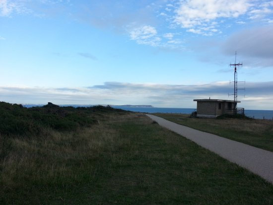 Hengistbury Head: at the top of the hill, but the paths are good upto here as well