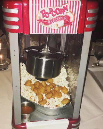 barton g the restaurant laughing bird popcorn chicken