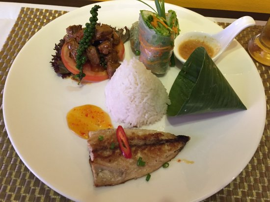grill wine cafe khmer combo food
