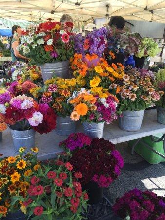 Berkeley, CA: 色鮮やかな花々は飛ぶように売れてました