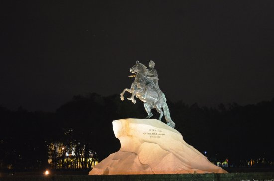 Bronze Horseman, Monument To Peter I: magical view in the night of the bronze horseman. Quite stunning!