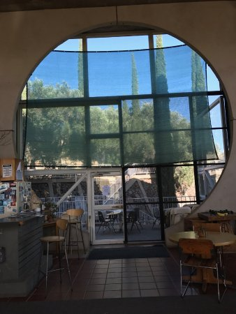 "Mayer, AZ: Design features ""Arcology"" concept. View from dining area."