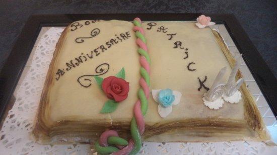 Livron-sur-Drome, Γαλλία: Gateau d'anniversaire fait maison