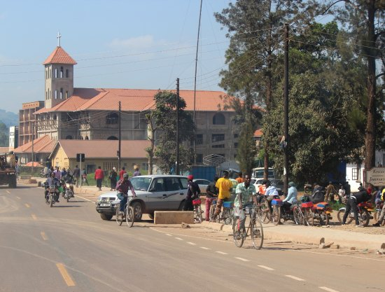 Kabale, Uganda: The church along the road