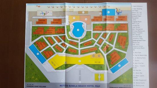 Mitsis Rinela Beach Resort Spa Map Of The Hotel Best Way To