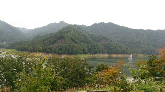 Midori, Giappone: ウッドデッキからの眺め。