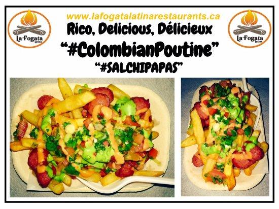 la fogata latina restaurants colombian poutine salchipapas