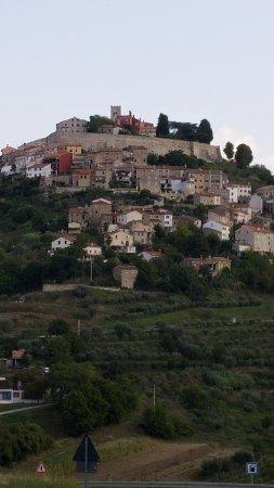 View of Motovun from the Kotiga family home