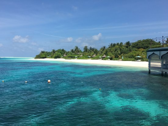 Four Seasons Resort Maldives at Landaa Giraavaru: 桟橋からの海