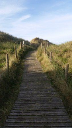 Littlehampton, UK: Walkway across the Dunes