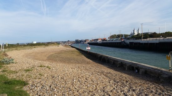 View into Littlehampton harbour