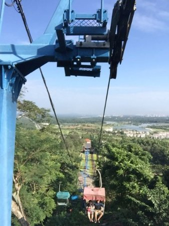 Qionghai, China: Cable car ride and its sights