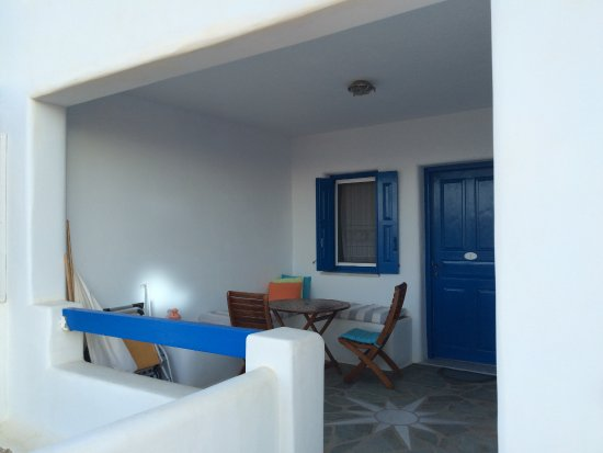 Agios Georgios, Grekland: notre terrasse privée