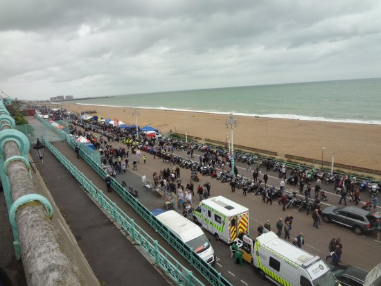 Brighton and Hove, UK: More bikes along the coast
