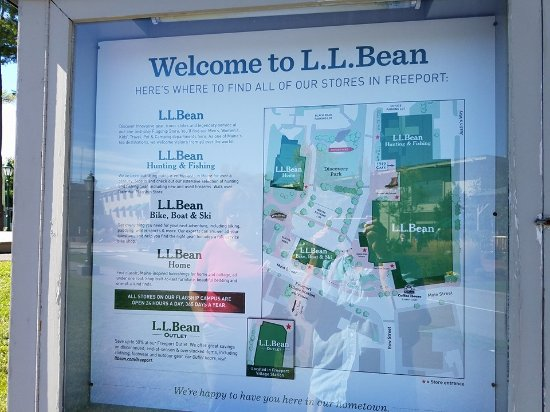 Map of the LL Bean campus Picture of L L Bean Factory Store