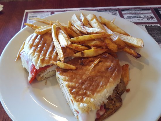 Clinton, NJ: chicken panini with eggplant