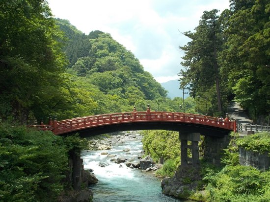 Shinkyo: View of this charming bridge (with a lovely stream below) from the regular bridge nearby