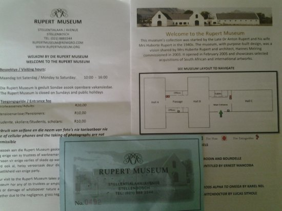 Rupert Museum: Pamphlets and ticket