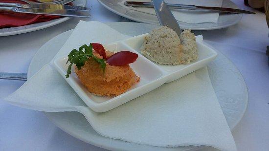 Buje, Croatia: Antipasti made from fish :)