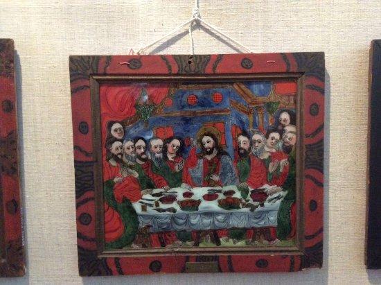 Sibiel, Roemenië: J'ai beaucoup aimé ce cadre peint, lui aussi.