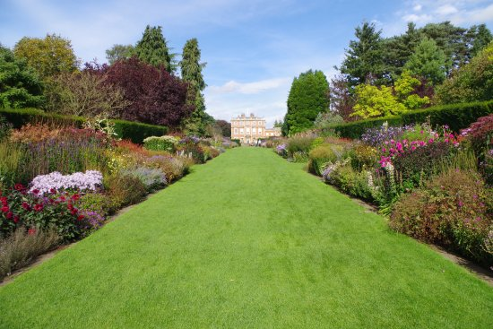 Ripon, UK: View towards the Hall from near the Miniature Railway line