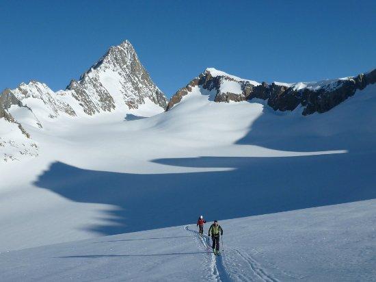 Aletsch Glacier: faire sa trace là haut...