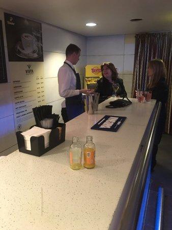 Armagh, UK: Scenes behind the bar.