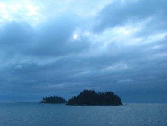 Tsawwassen, Canada: Early morning arrival in Haida G'waii.