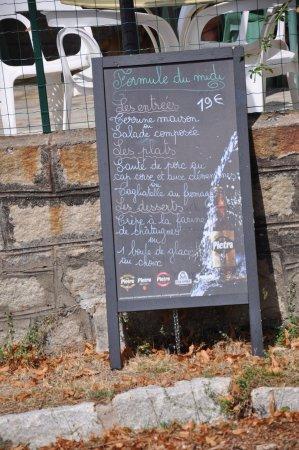 Evisa, Frankrig: Menu