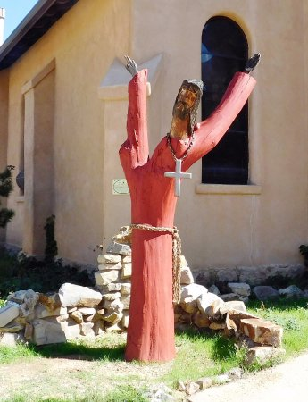 Cerrillos, Нью-Мексико: Unique sculpture