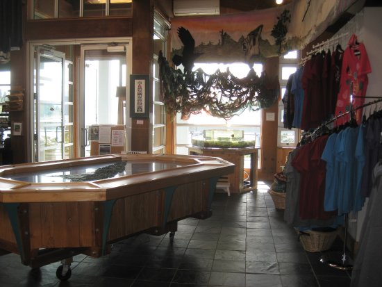 Queen Charlotte City, Canada: Inside the Visitor Centre.