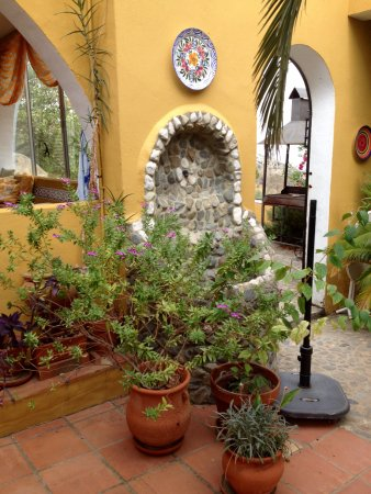 Comares, Spanyol: Flower and plants in the patio