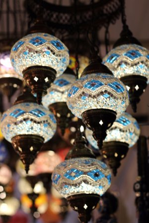tuncer gift shop mosaic lamp